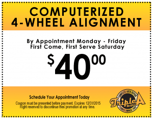 Triple A Muffler-Coupon-4-Wheel Alignment
