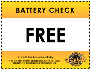 Triple A Muffler-Coupon-Battery Check